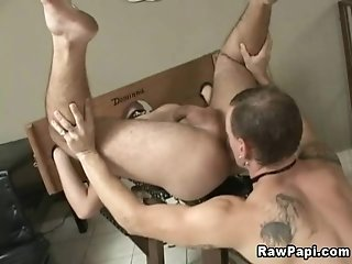Two Dudes Use A Pillory While Making Ardent Gay Love